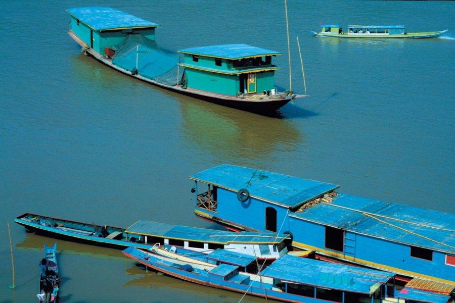 Embarcations sur le Mékong. (© Alamer - Iconotec))
