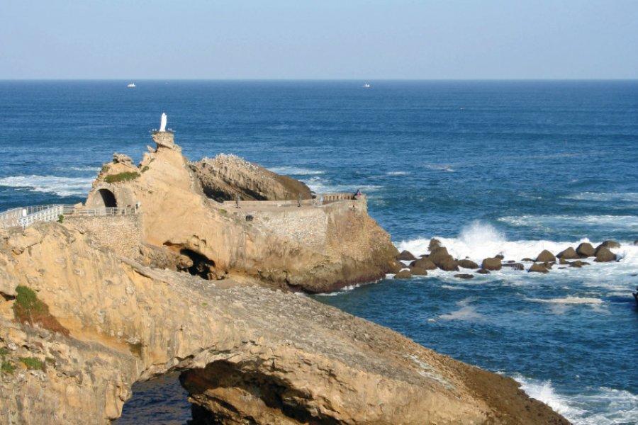 Le rocher de la Vierge à Biarritz (© Jessica Blanc - Fotolia))