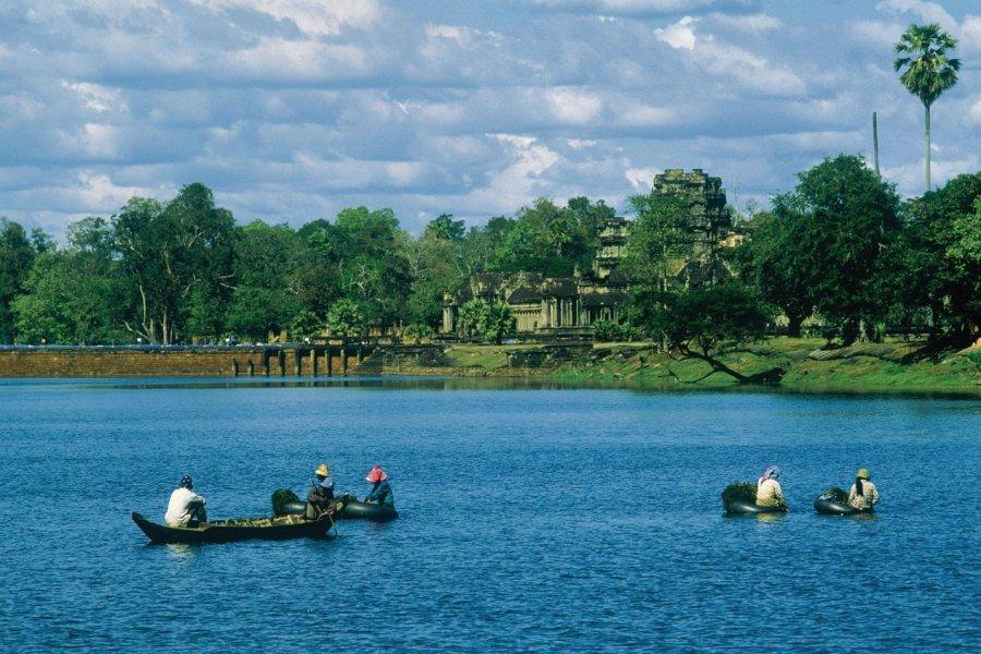 Vue d'Angkor depuis la rivière. (© Eric Martin - Iconotec))
