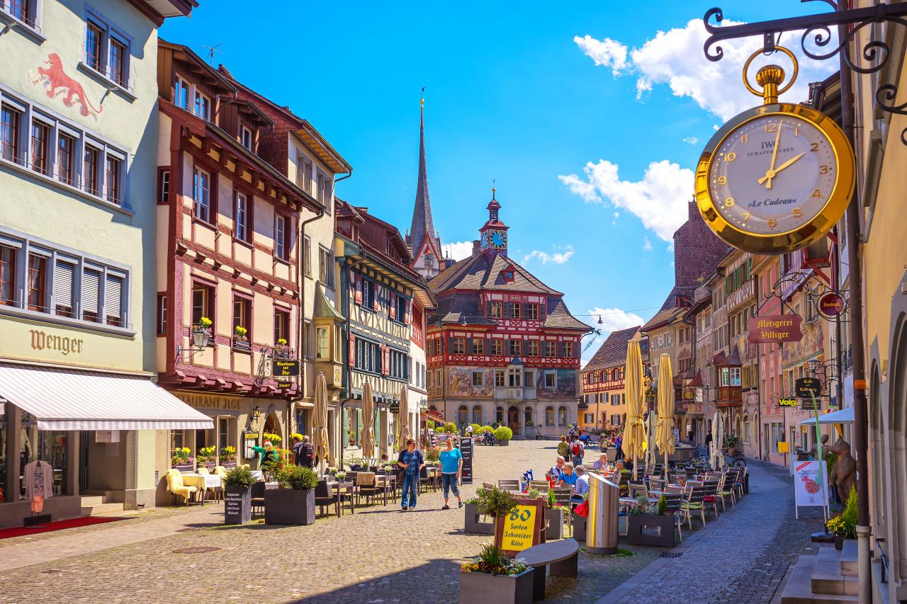 Le village médiéval de Stein Am Rhein. (© PONGPIPAT.SRI - Shutterstock.com))