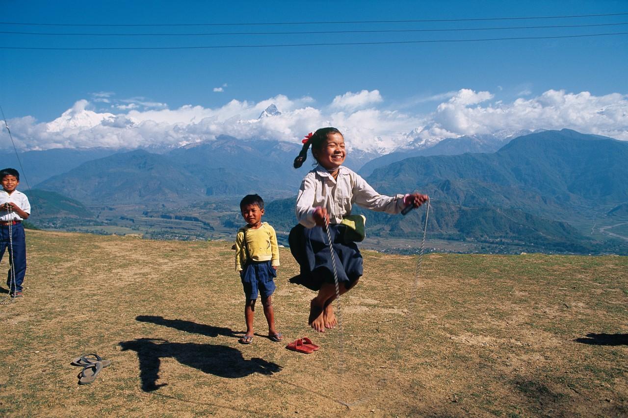 Enfants de Sarangkot. (© Author's Image))