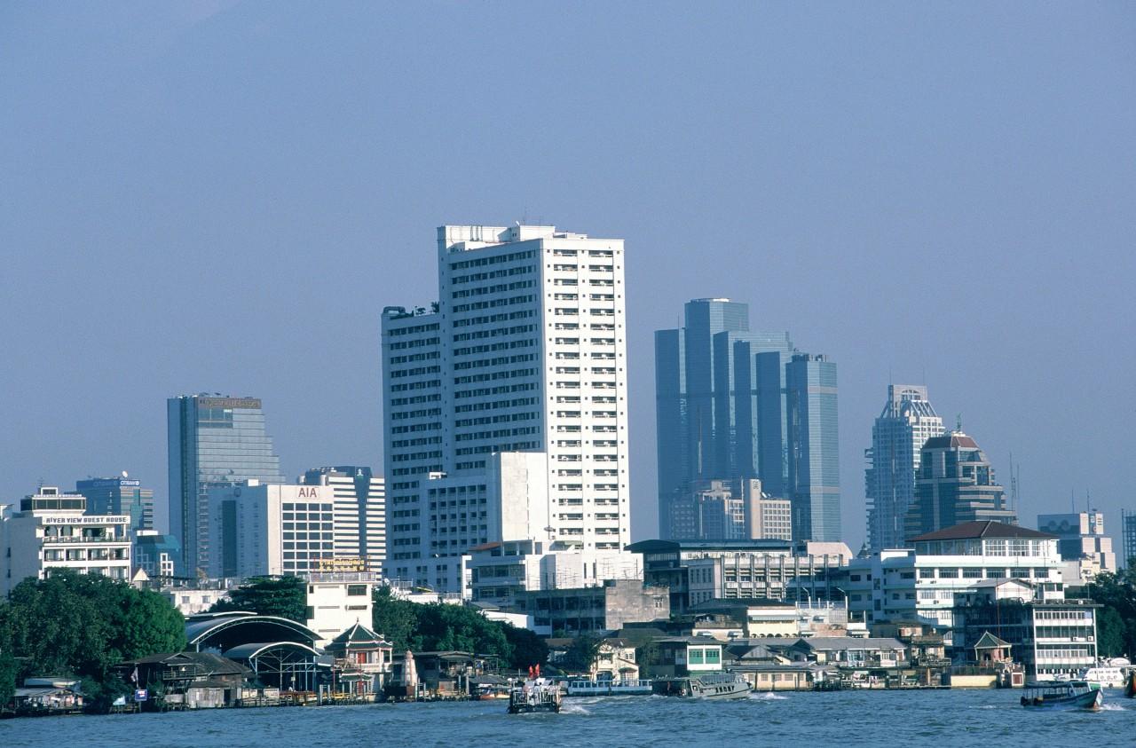 Vue générale du quartier moderne de Bangkok. (© S.Nicolas - Iconotec))