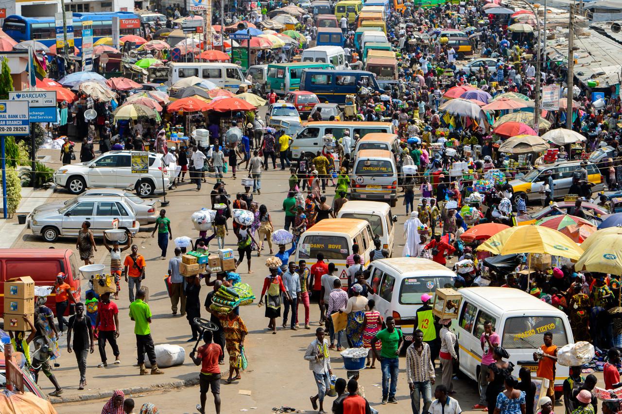 Les rues animées de Kumasi. (© Anton_Ivanov - Shutterstock.com))