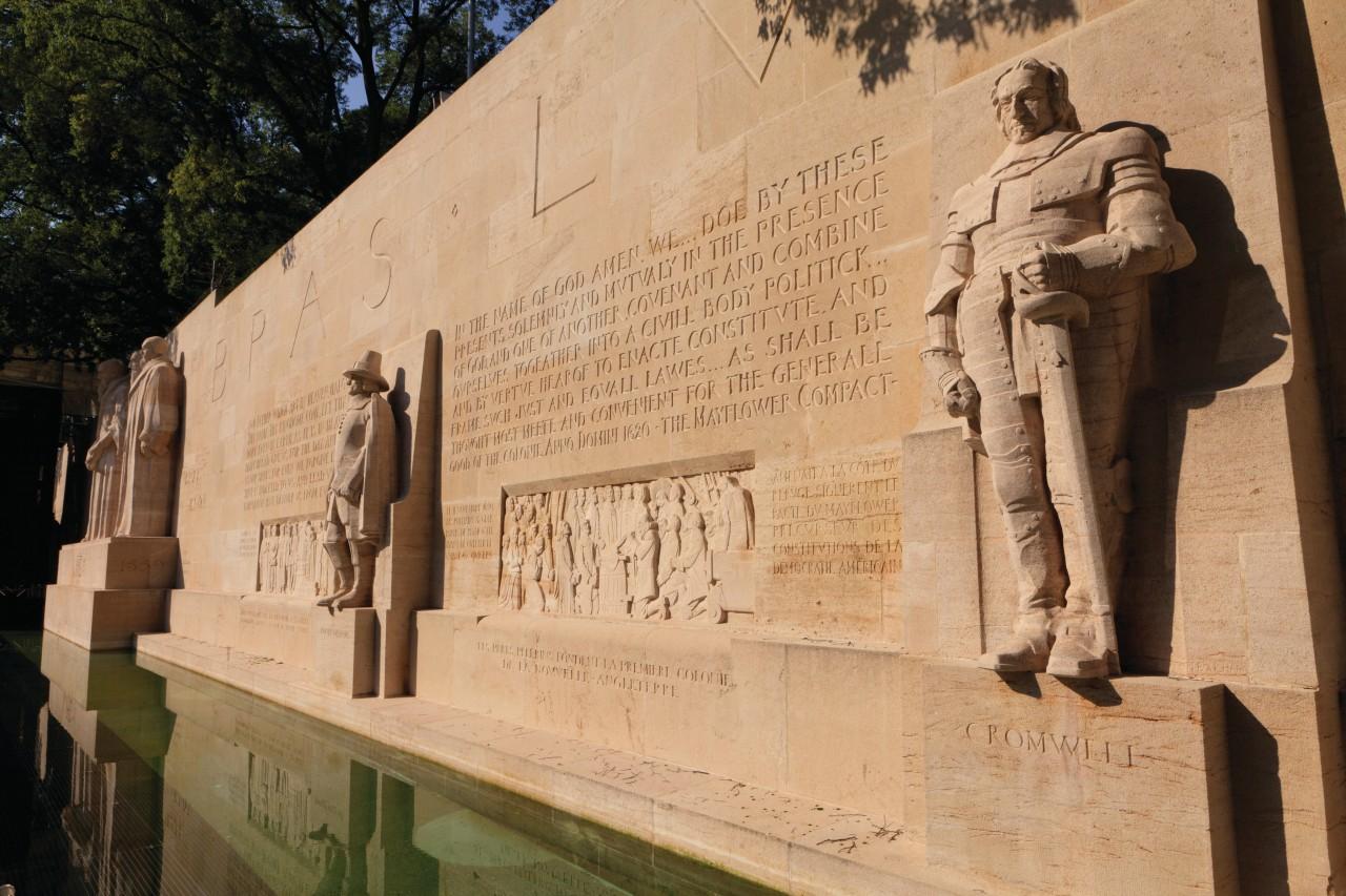 Mur des Réformateurs dans le parc des Bastions. (© Philippe GUERSAN - Author's Image))