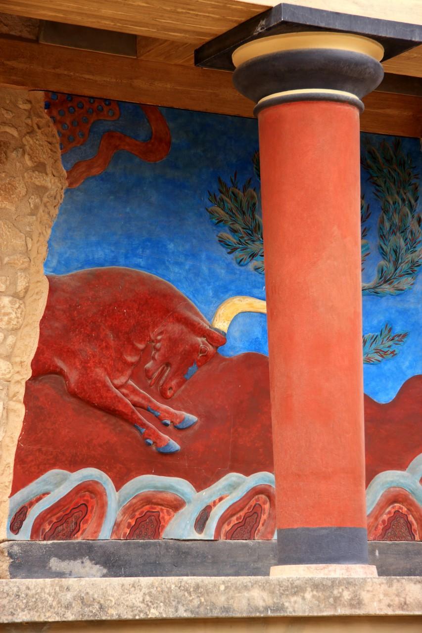 Détail d'une fresque du Palais de Cnossos. (© John Copland - Shutterstock.com))