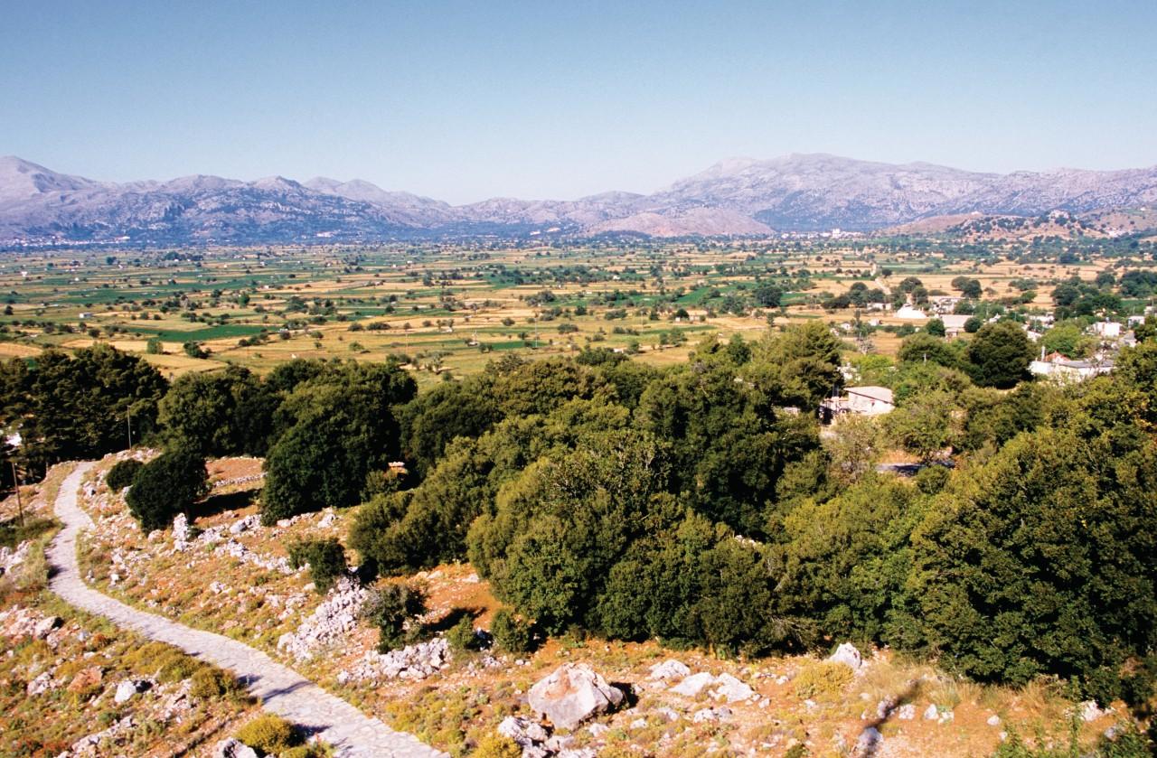 Plateau Lassithi vue depuis la grotte de Zeus. (© Author's Image))