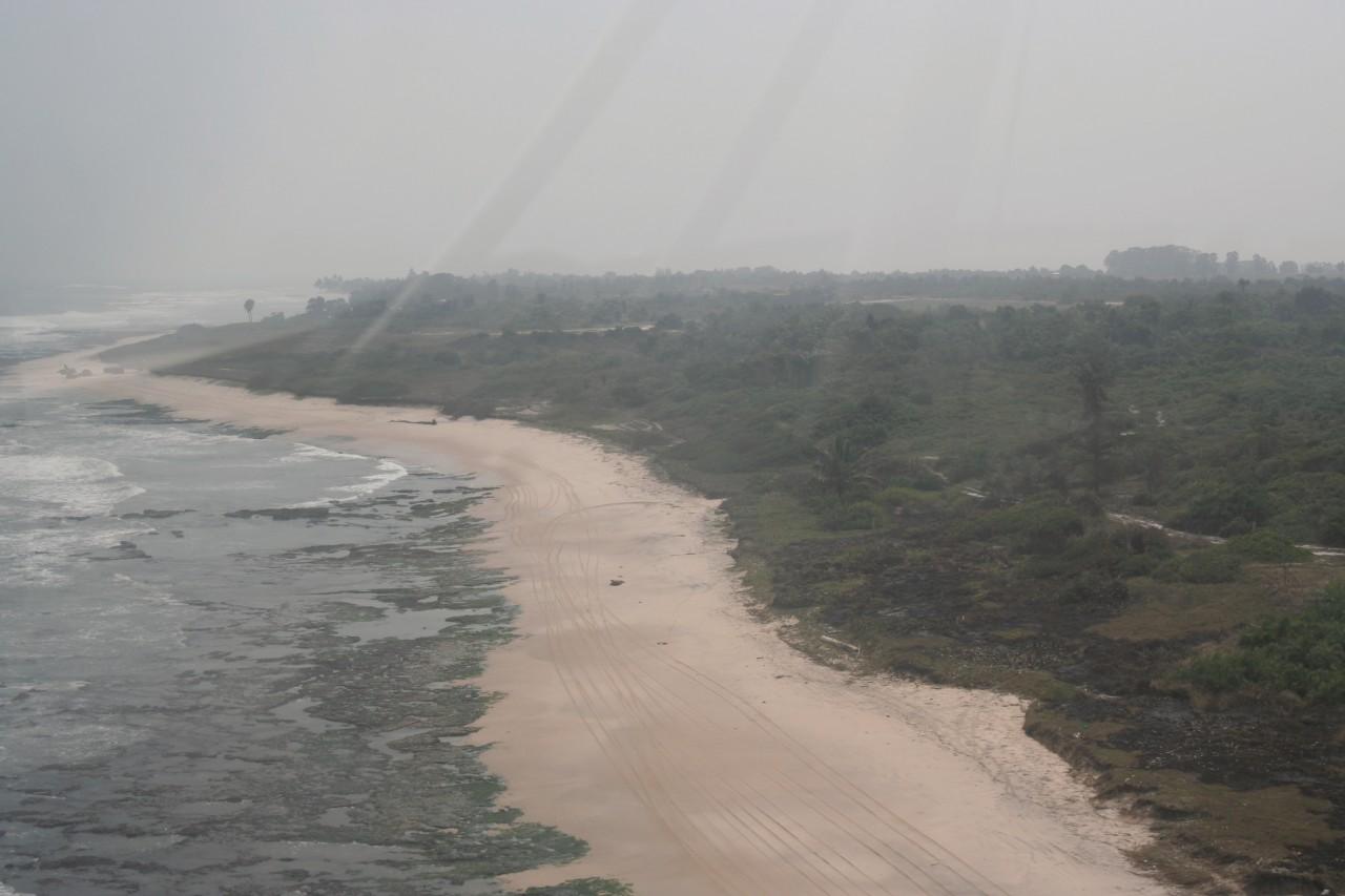 Vue aérienne de la Pointe indienne. (© Stéphane DAMANT))