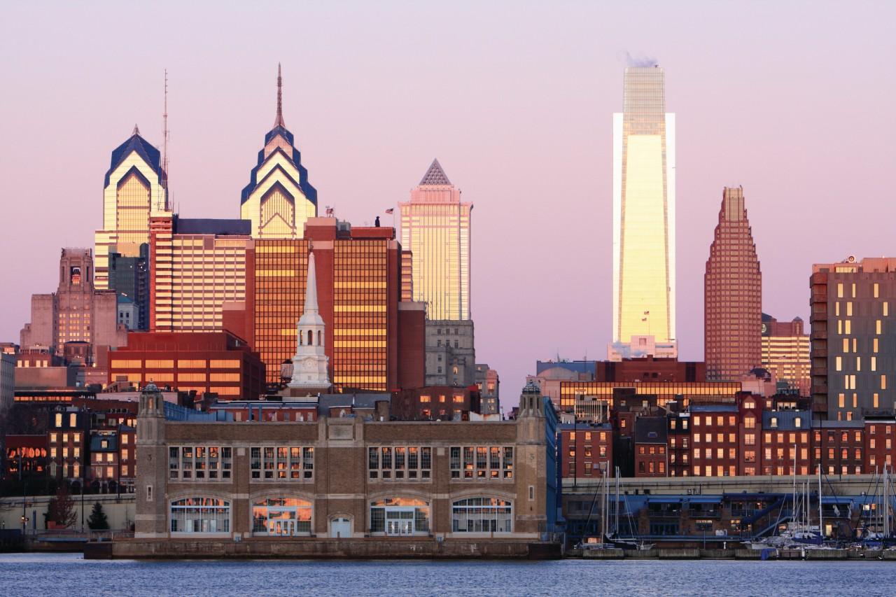 Vue de la Ville de Philadelphie