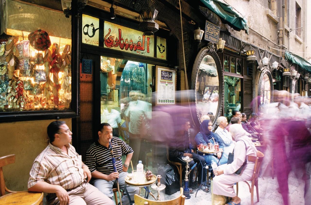 Café el-Fishawi au Khan el-Kalili. (© Author's Image))