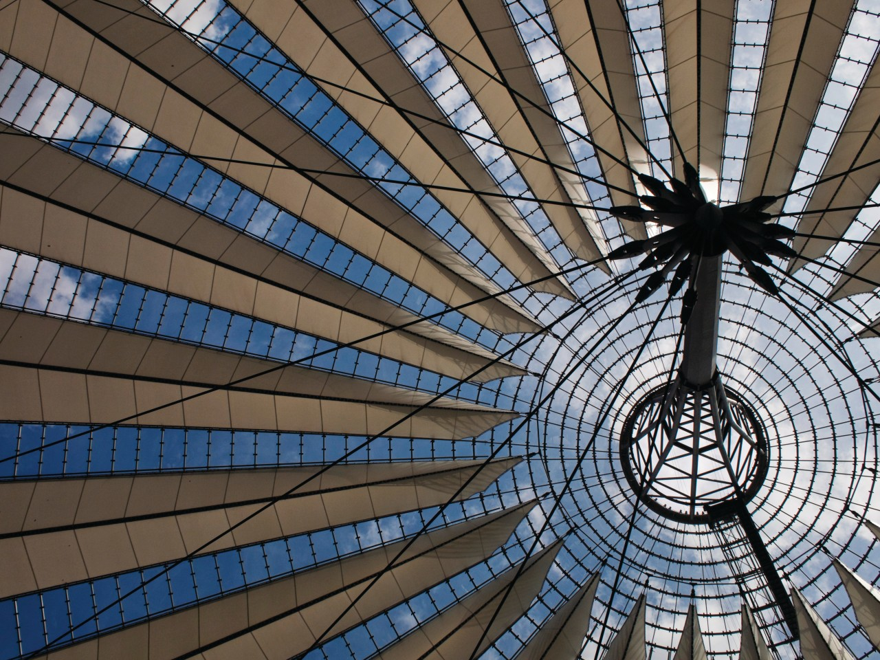 Sony Center and its gigantic futuristic dome on Potsdamer Platz