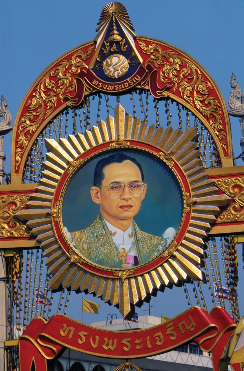 Le Roi Bhumibol Adulyadej (Rama IX). (© Mickael David - Author's Image))