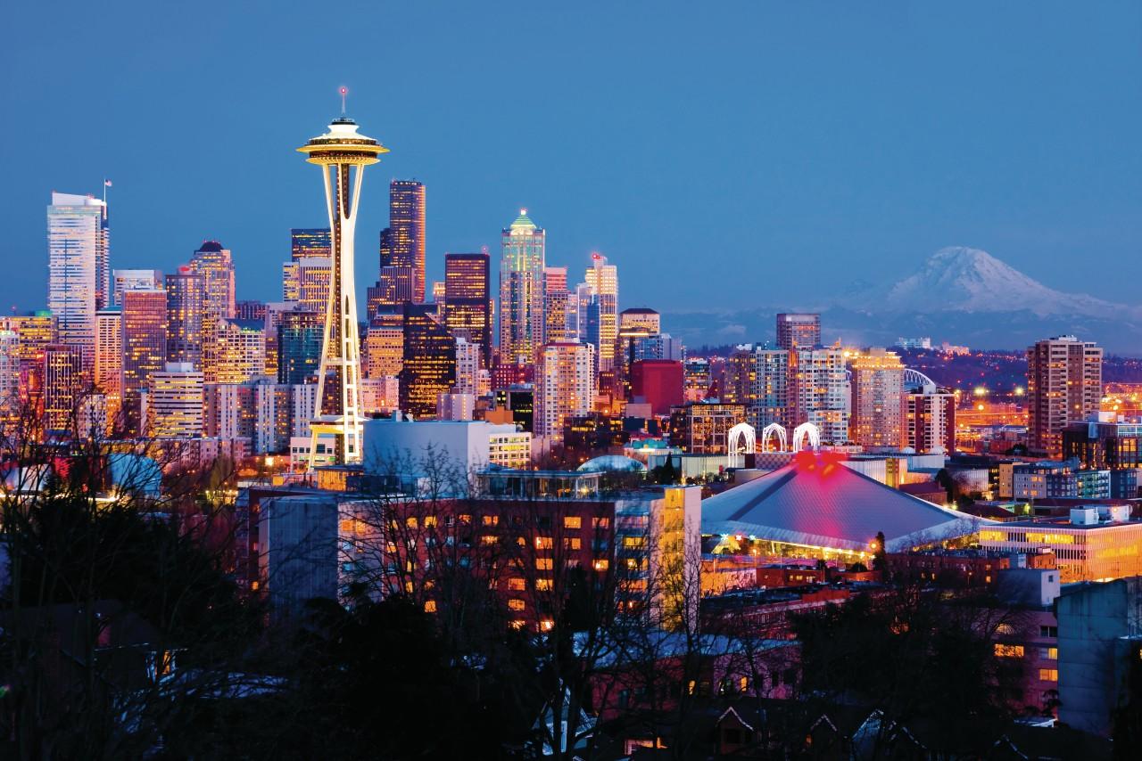 Panorama en Seattle.
