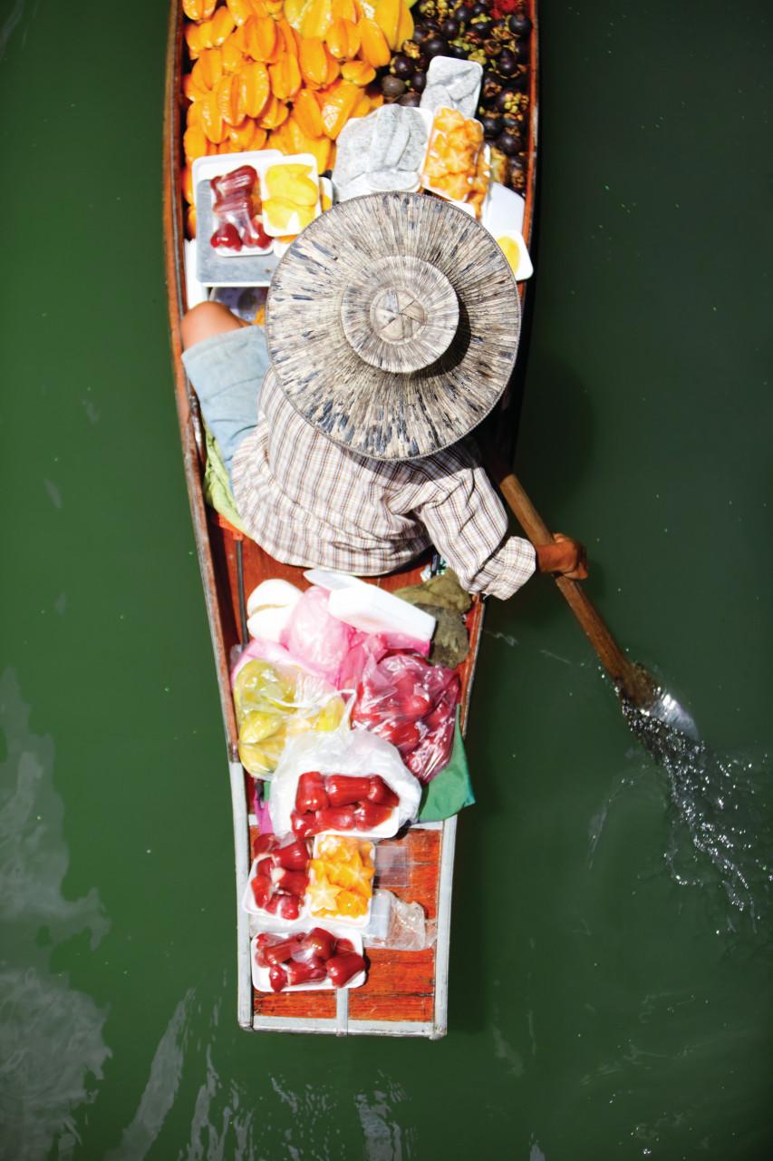 Marché flottant de Bangkok. (© shalamov))
