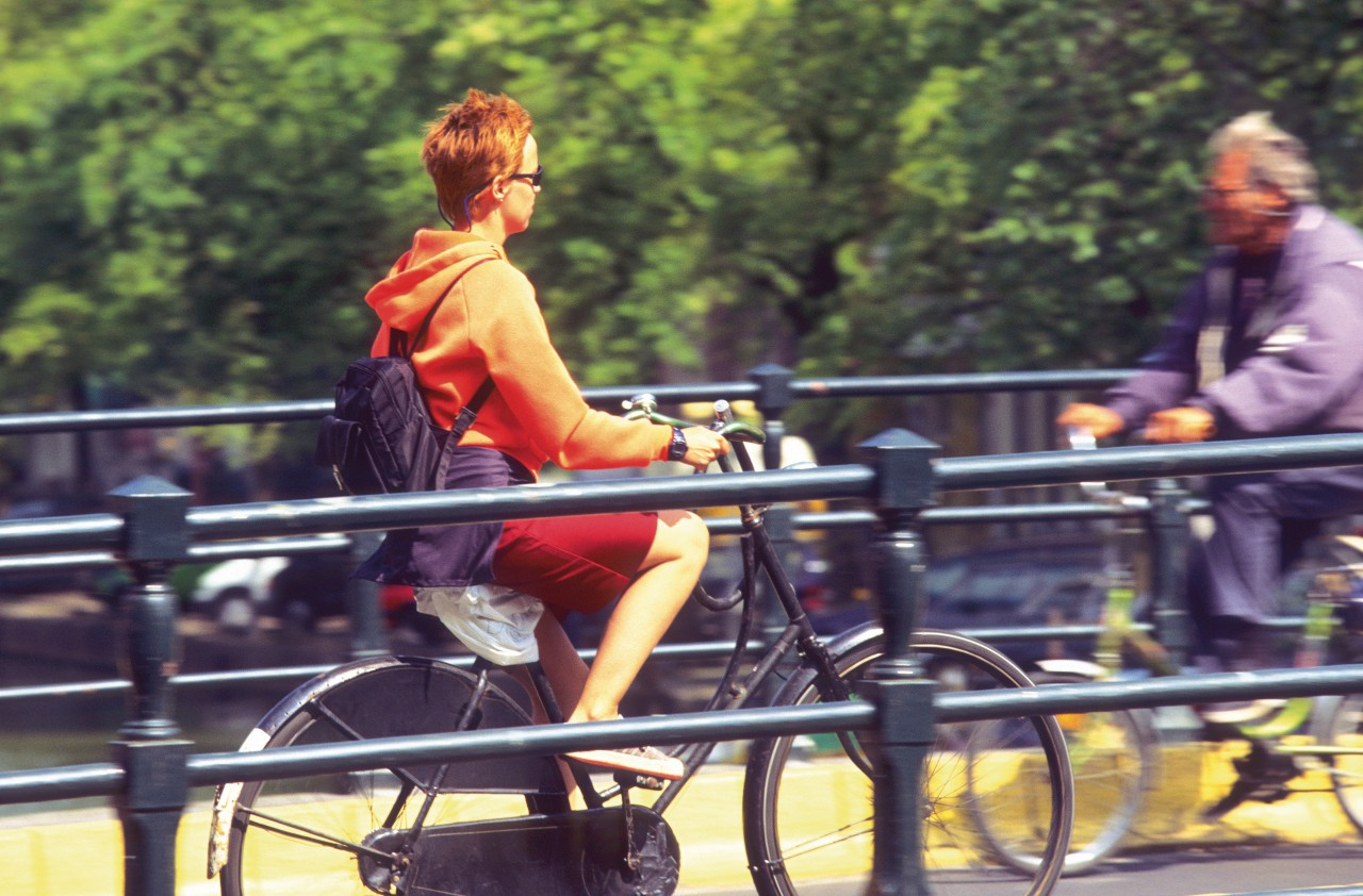 Amsterdam, the capital of the bicycle.