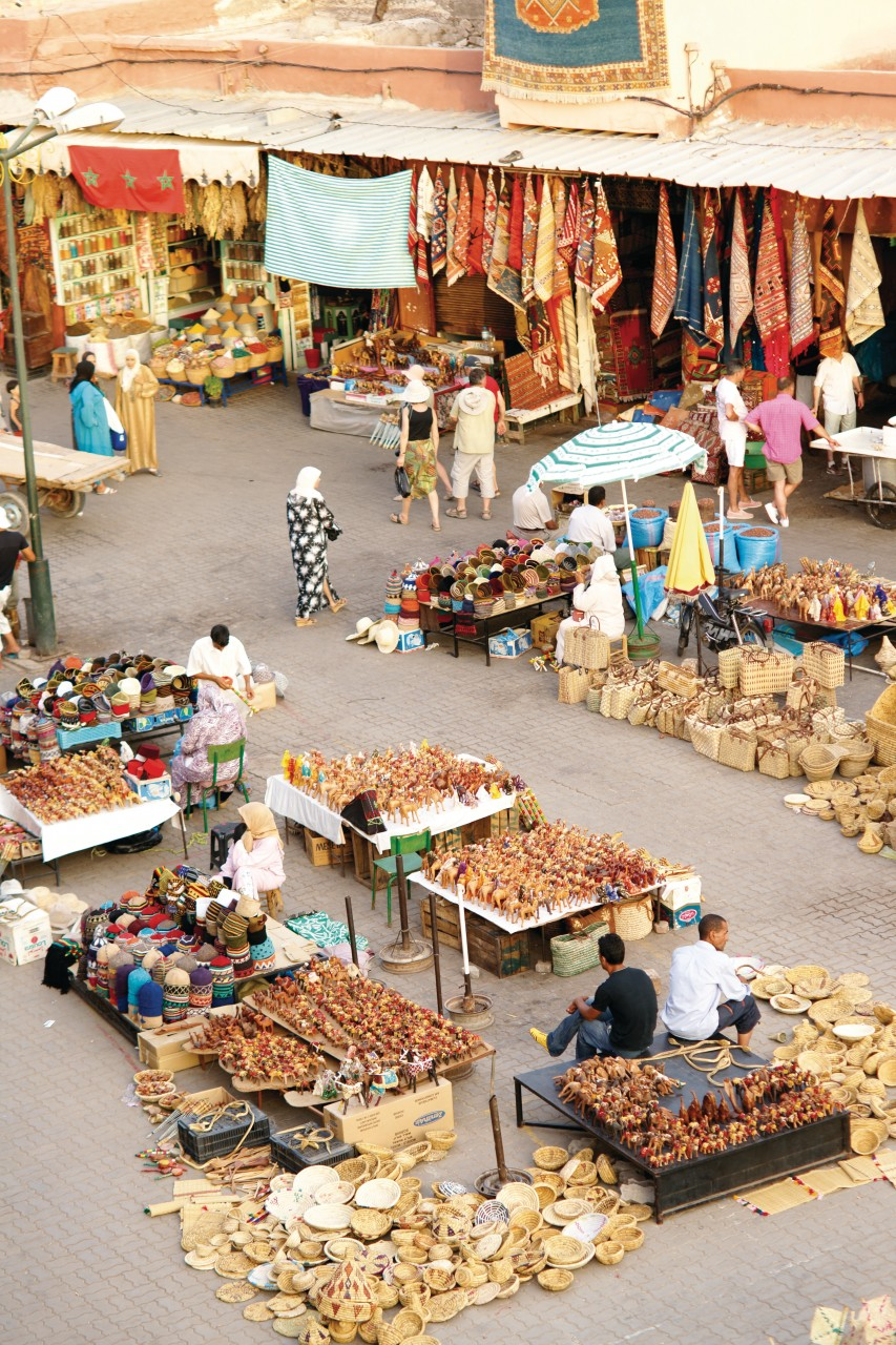 La place du marché aux épices, dans la médina. (© Sébastien CAILLEUX))