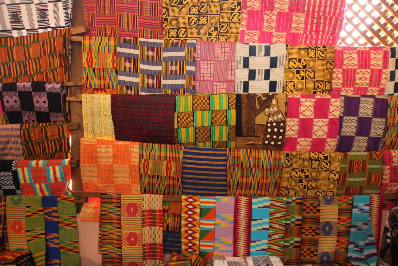 Tissu Kenté dans la région d'Ashanti. (© LindasPhotography - iStockphoto))