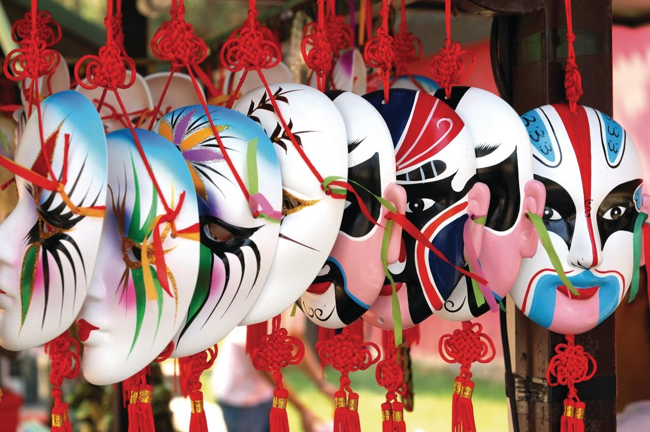 Chinese masks.