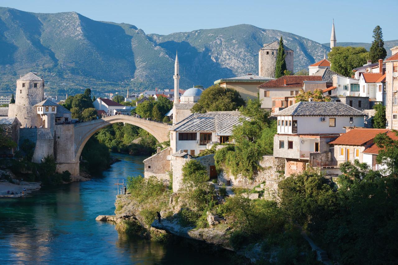 El viejo puente de Mostar.
