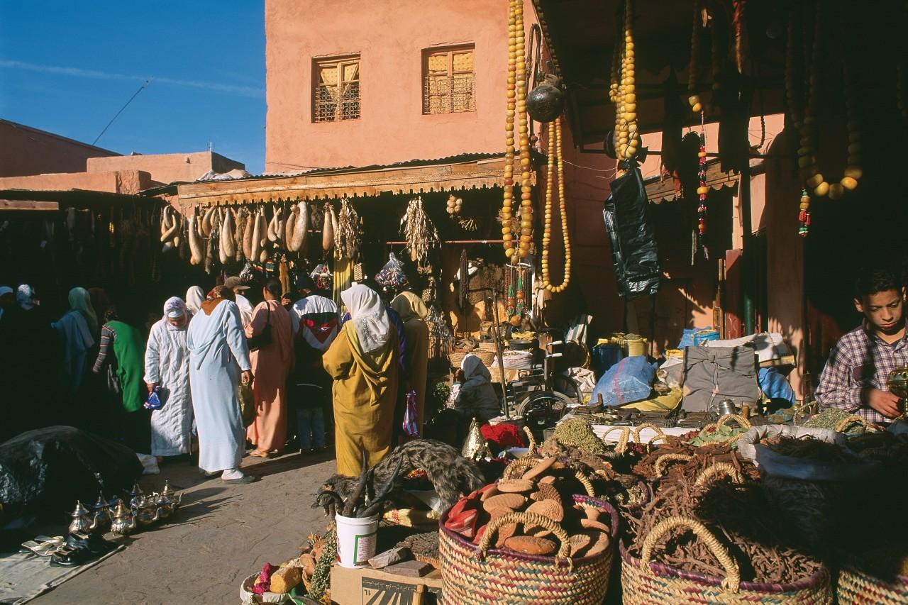Le souk Laghzal dans la médina. (© Author's Image))
