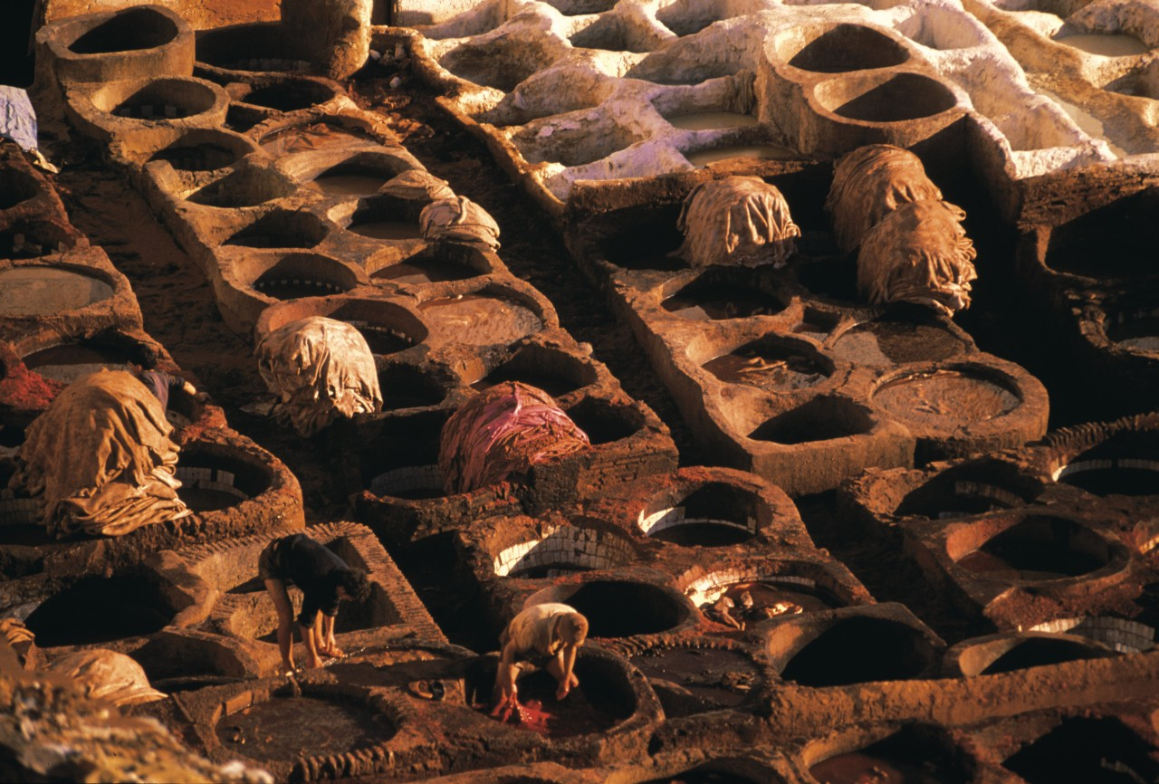 Souk des tanneurs. (© Atamu RAHI - Iconotec))