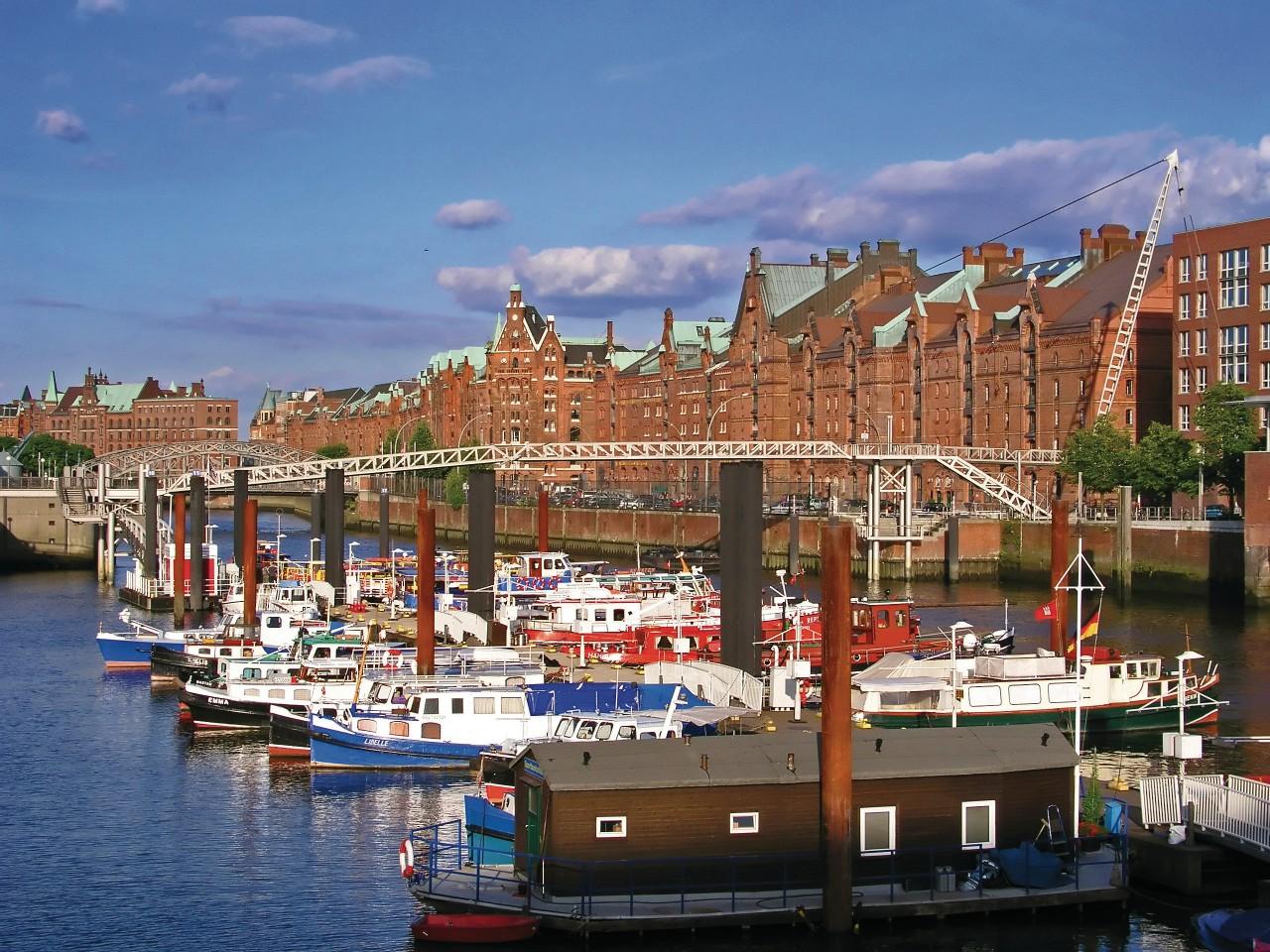 El puerto de Hamburgo.