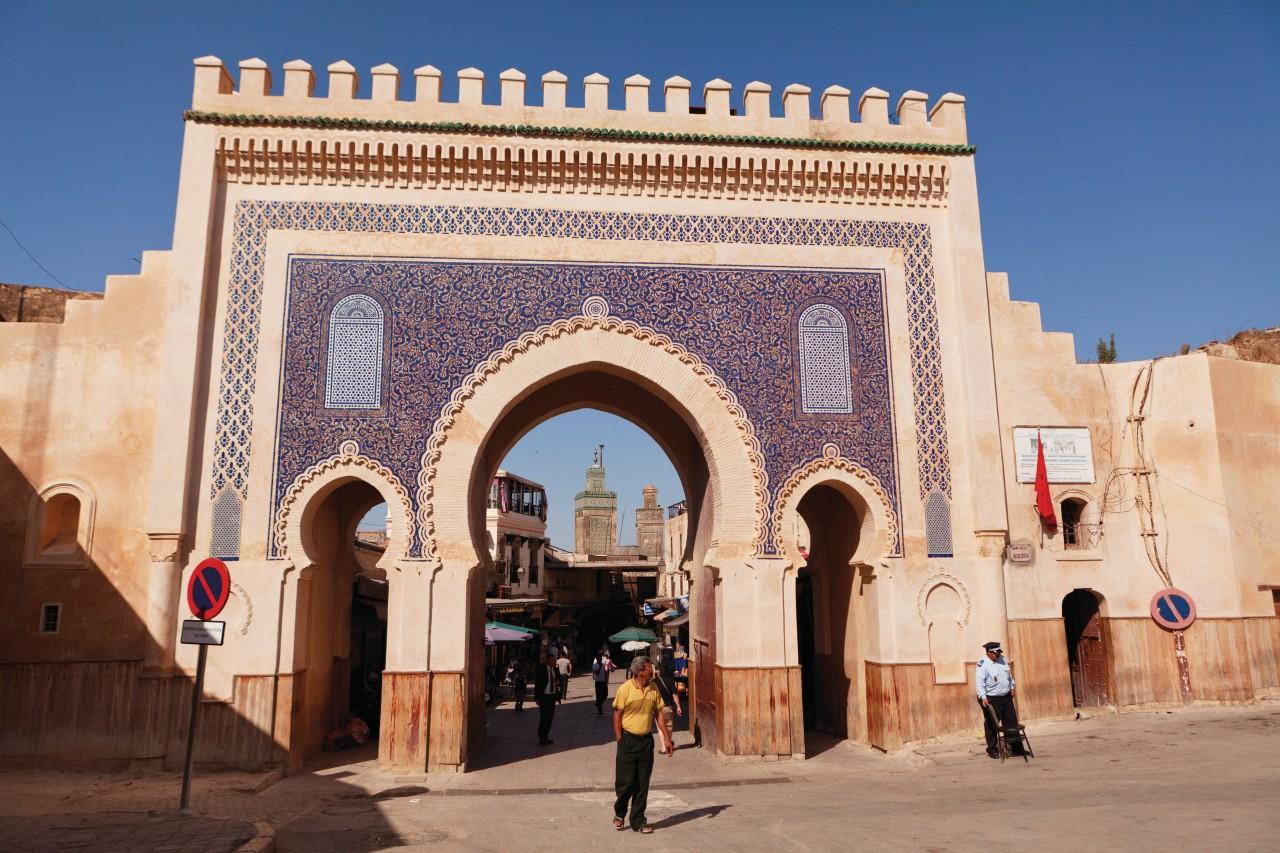 Bab Boujloud made in blue earthenware.