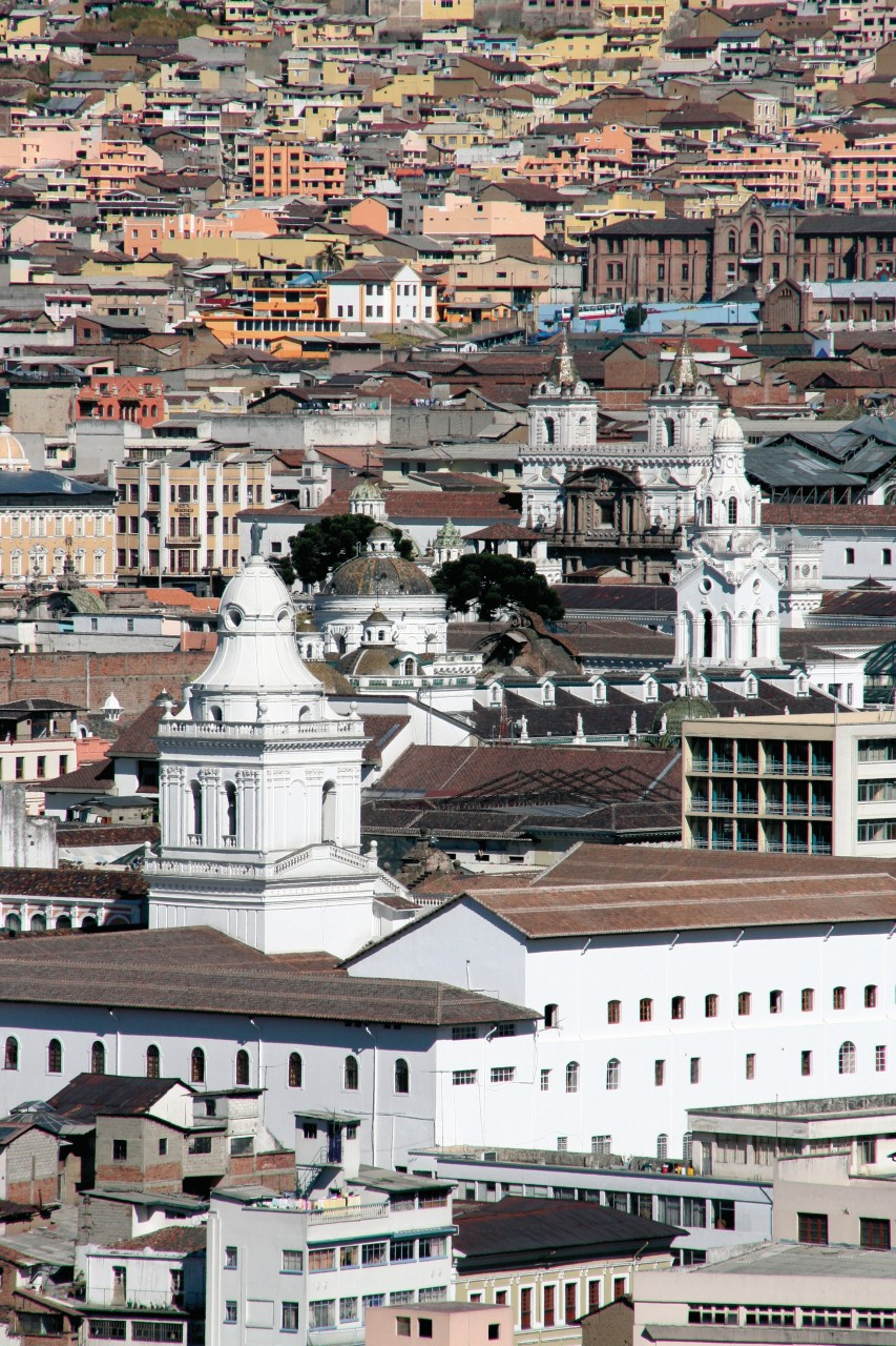 Splendide panorama sur Quito depuis le parc Itchimbía. (© Stéphan SZEREMETA))