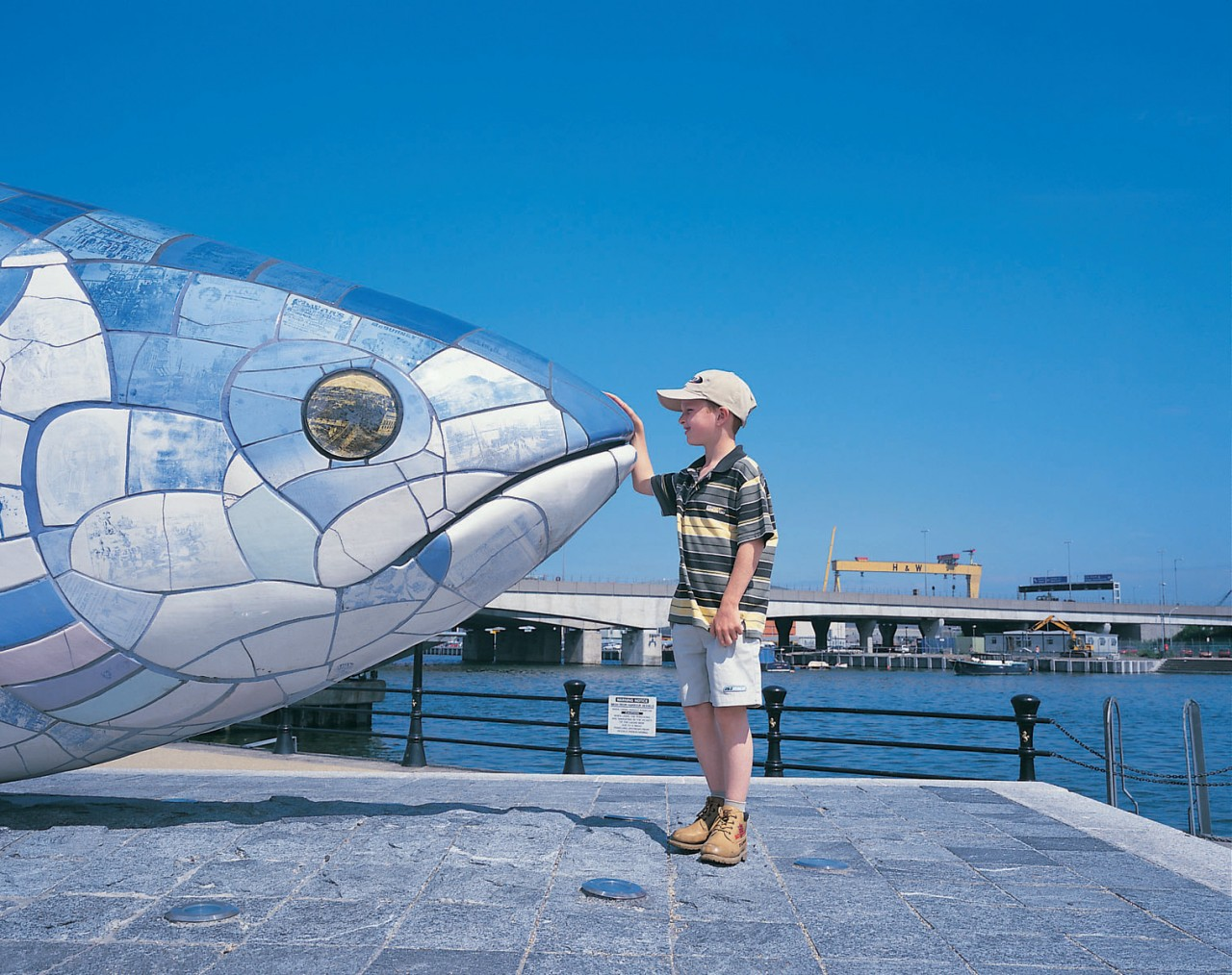 <p>Sculpture of giant fish</p>