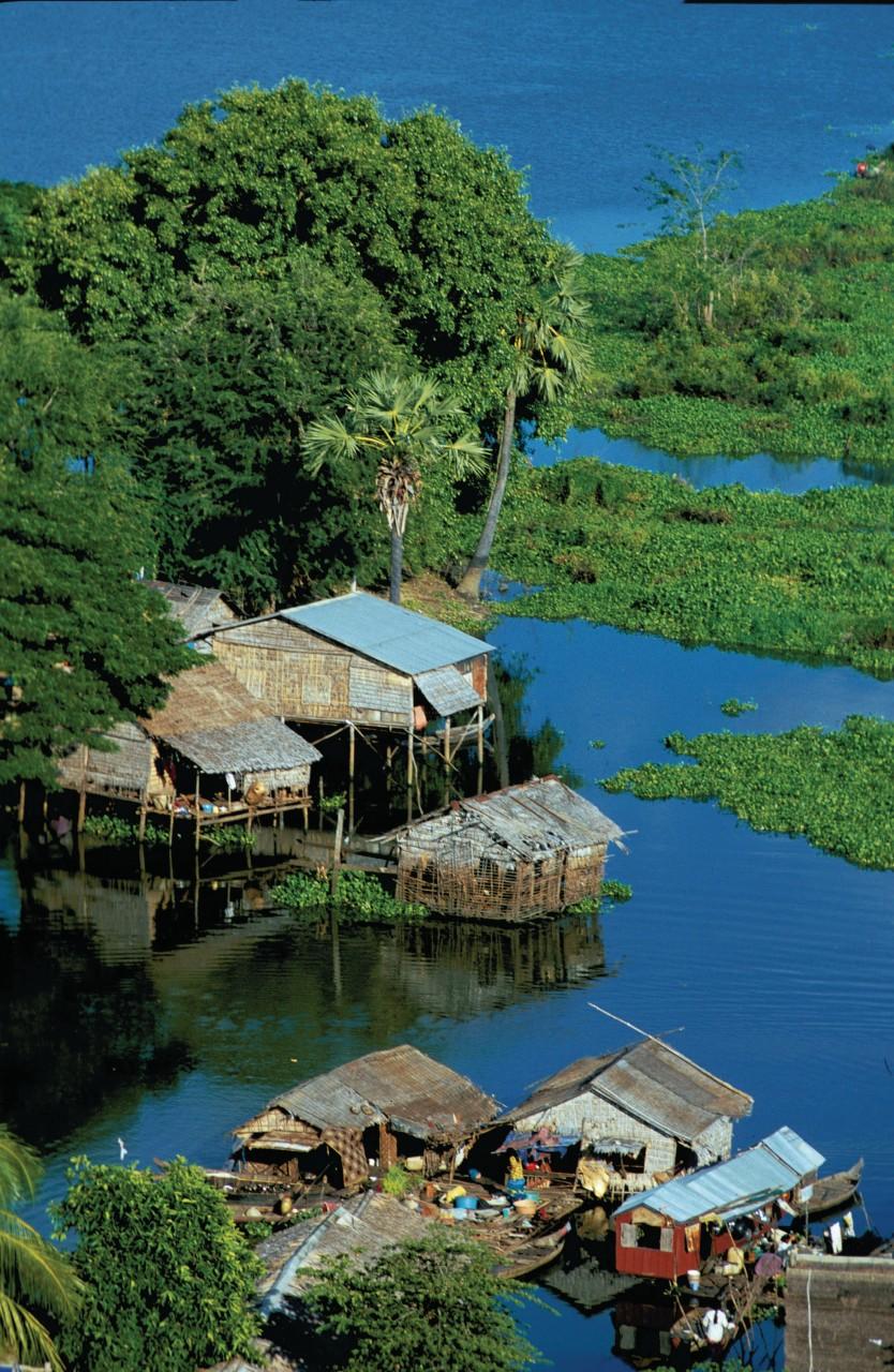Siem Reap sur le Tonlé Sap. (© Alamer - Iconotec))