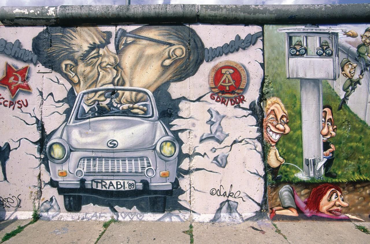 Quartier du pont Oberbaumbrücke, graffiti sur le Mur