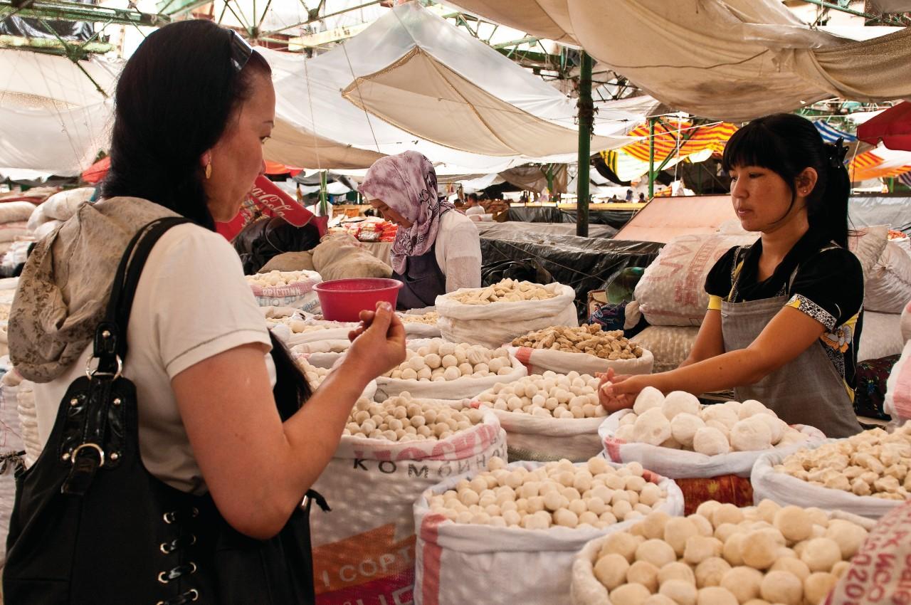Au bazar d'Osh, à Bichkek