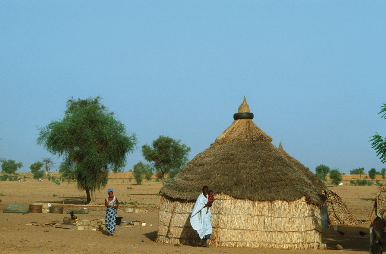 Hutte dans la région de Darou Mousty. (© Author's Image))