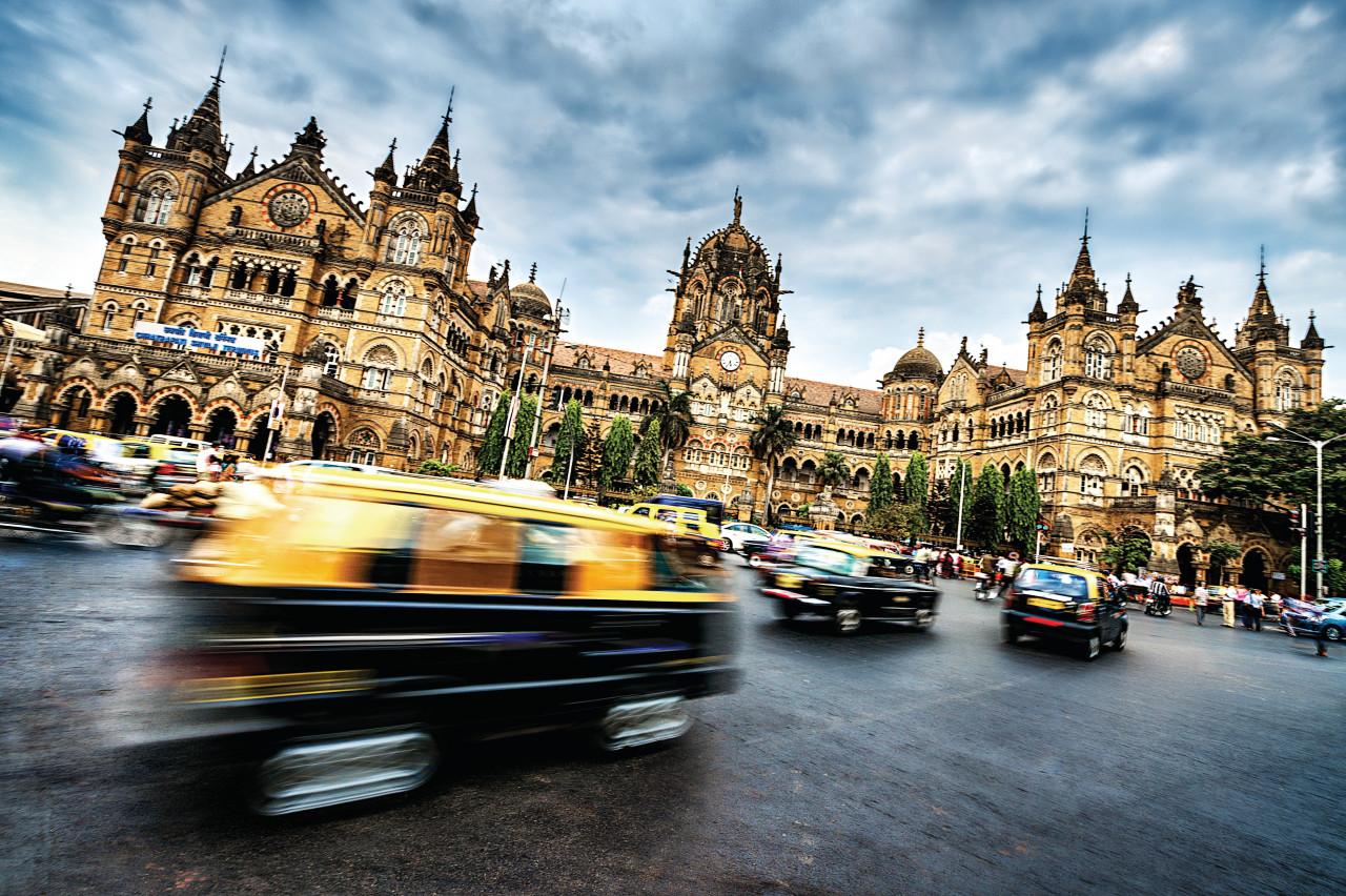 Chhatrapati Shivaji Terminus à Bombay.