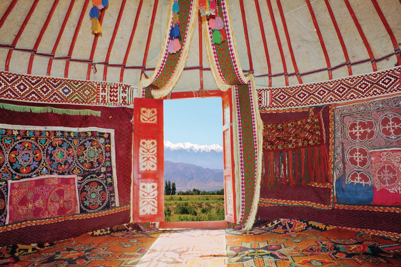 Housing of kazaks nomads.