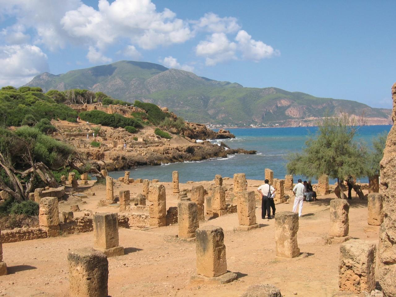 Vestiges de la cité antique de Tipasa.