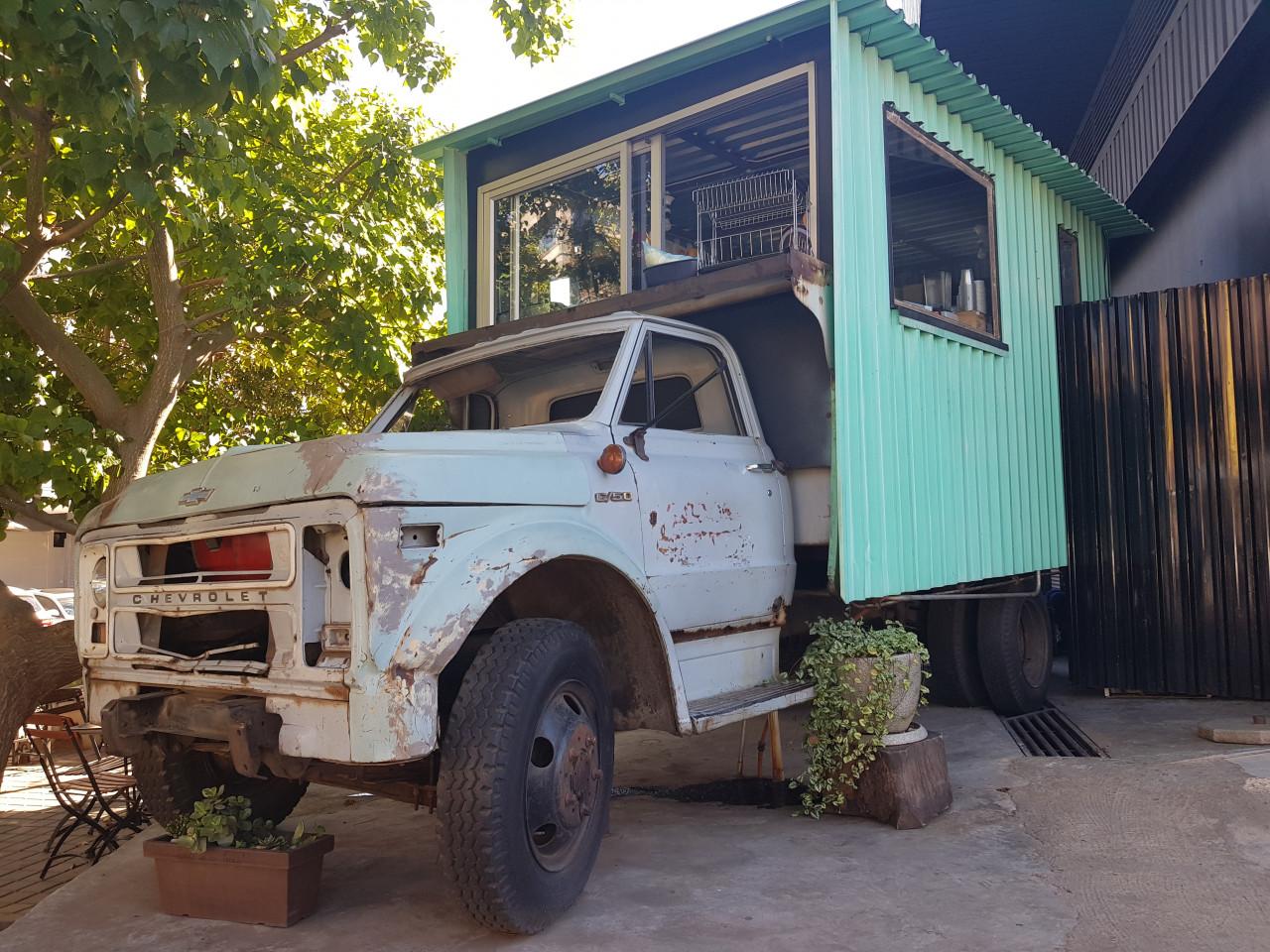 Food truck dans le quartier de Maboneng. (© Chloé OBARA))