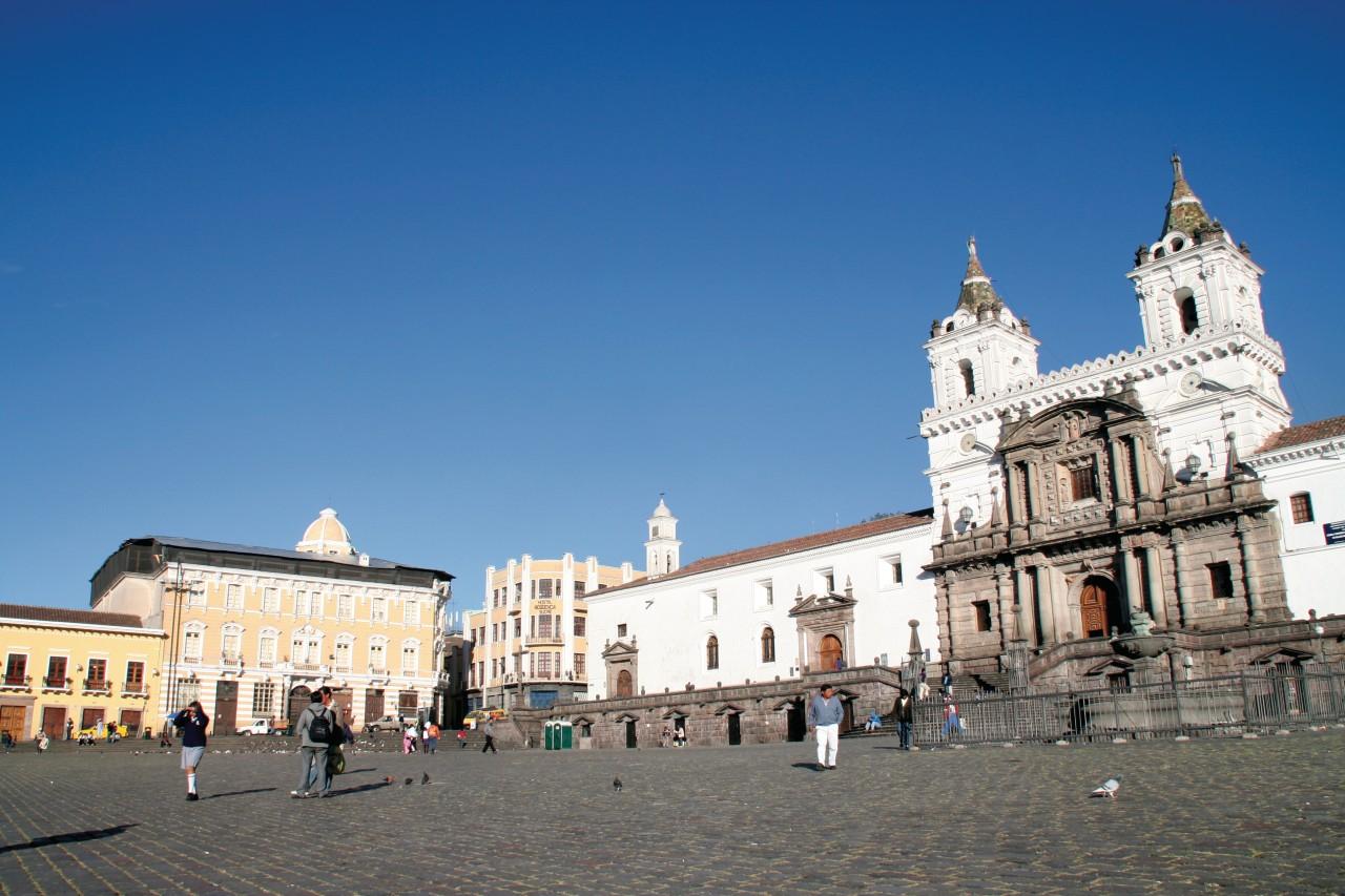 Église San Francisco, inmanquable trésor de Quito. (© Stéphan SZEREMETA))