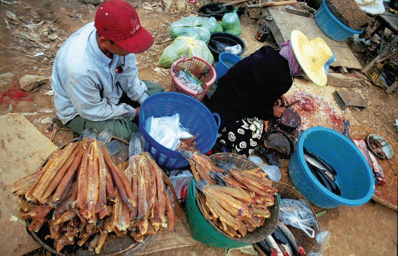 Marché près du Tonlé Sap. (© Alamer - Iconotec))