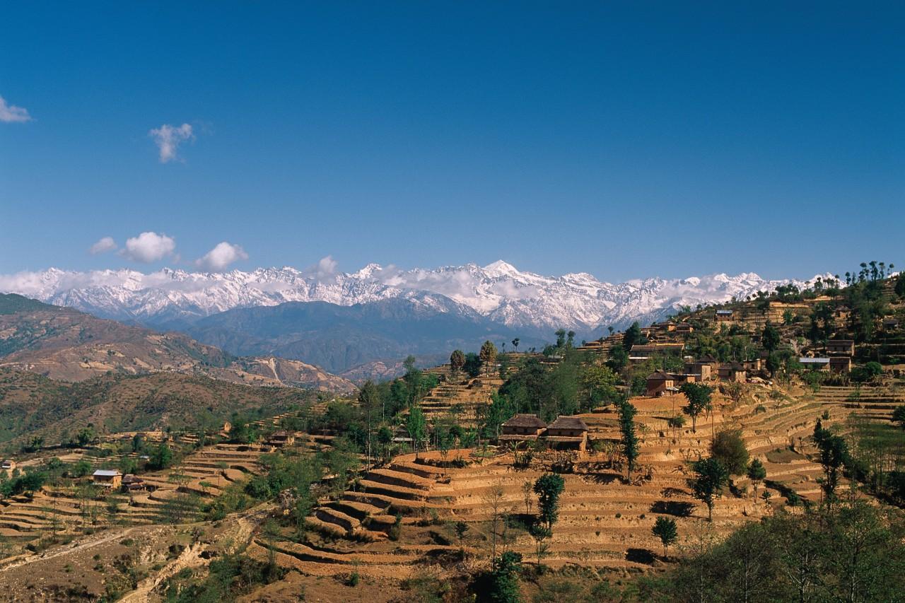 Lorsque le temps le permet, Nagarkot offre un sublime panorama sur la chaîne himalayenne. (© Author's Image))