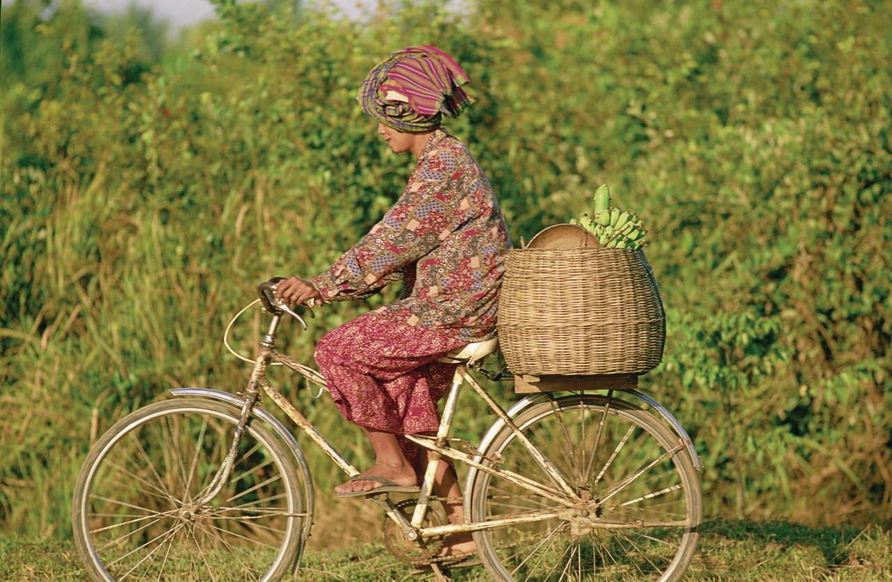 À vélo dans les environs de Siem Reap. (© Alamer - Iconotec))