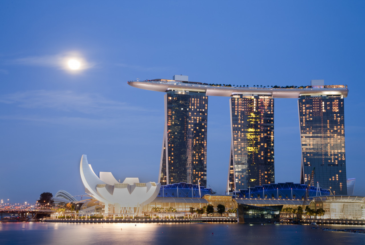 Marina Bay Sands, Singapore's huge hotel complex.