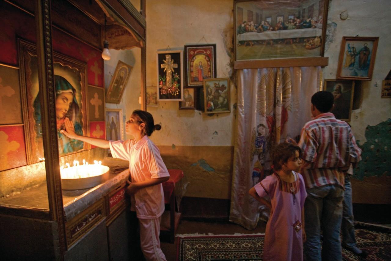 Église copte et monastère Theodoros El-Morhab le premier dimanche après Pâques. (© Sylvain GRANDADAM))