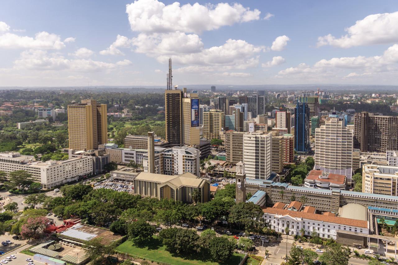 Vue de la ville de Nairobi. (© derejeb))