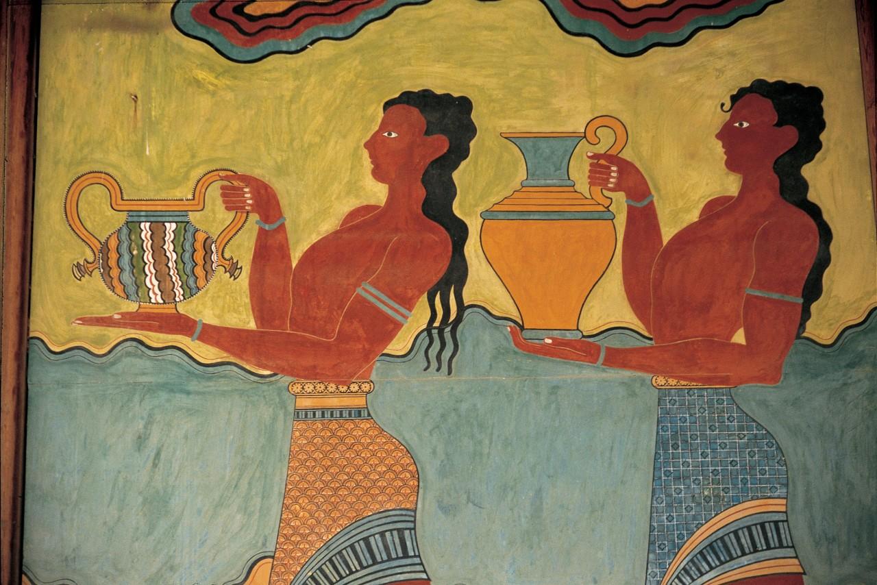 Fresque au musée archéologique de Cnossos. (© Cali - Iconotec))