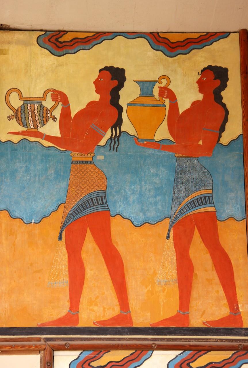 Fresque sur le site minoen de Cnossos. (© John Copland - Shutterstock.com))