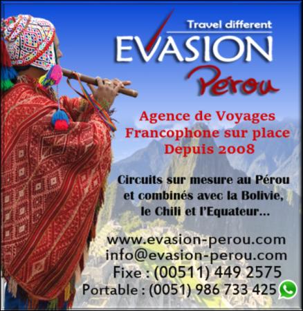 Banner Evasion Pérou - ©EVASION PEROU