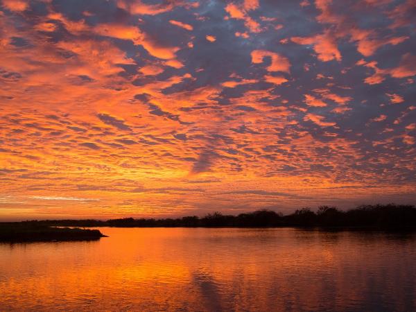 Coucher de soleil - ©Corroborree Billabong Wetland Cruises