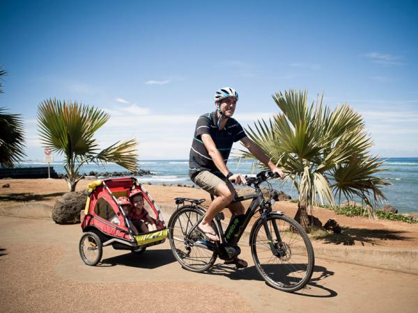 vélo avec remorque