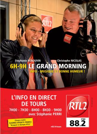 RTL2 TOURAINE (88.2) Radio nationale Tours photo n° 172213