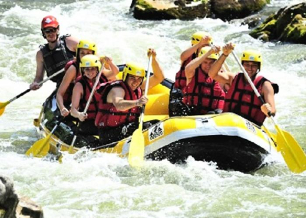 Rafting sur place